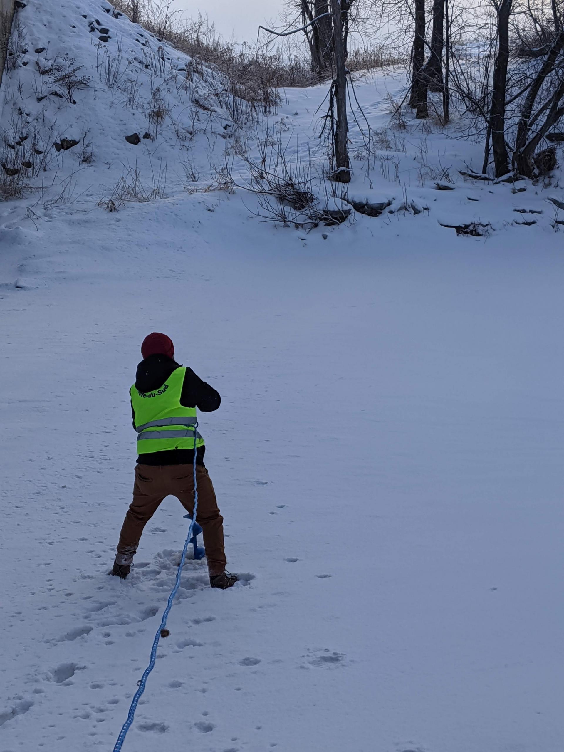Échantillonnage d'hiver de la rivière Boyer
